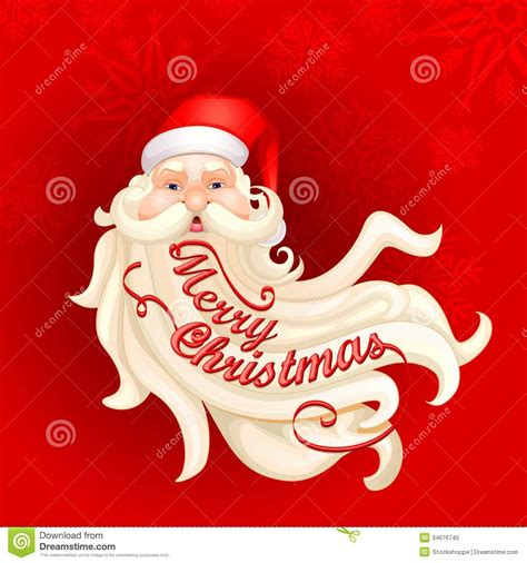 santa claus s beard forming merry christmas stock vector illustration of claus beard 34676740