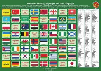 board game nationalities languages  countries  alex