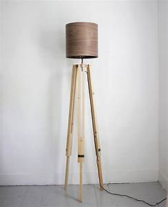 diy tripod floor lamp the merrythought With homemade wooden floor lamp