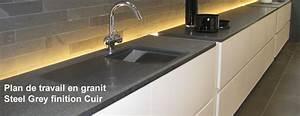 Plan De Travail Granit : cuisine plan de travail marbre plan de cuisine pierre gra ~ Dailycaller-alerts.com Idées de Décoration
