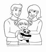 Coloring Parents Template sketch template