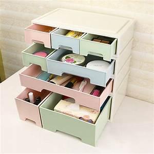Simple, Desktop, Plastic, Storage, Drawer, Box, Creative, Diy, Free, Combination, Office, Desk, Organizer