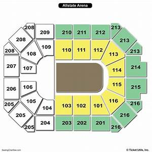 Allstate Seating Chart Allstate Arena Seating Chart Seating Charts Tickets