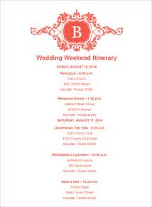 wedding itinerary wedding weekend itinerary template 7 free word pdf documents free premium templates