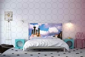 Beispiel Schlafzimmer Tapete Dekoration Wohndesign