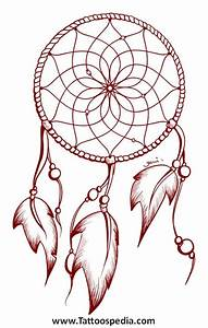 dreamcatcher tattoo outline 2 With dreamcatcher tattoo template
