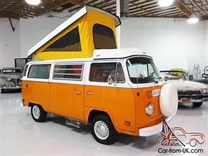 1974 Vw Westfalia Pop Top Camper Van - Beautifully Restored