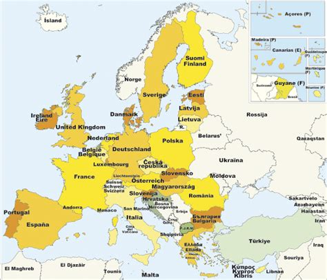 Drucke die leere karte von europa aus und beschrifte die länder. Karten von Europa / Europakarte : Weltkarte.com - Karten ...