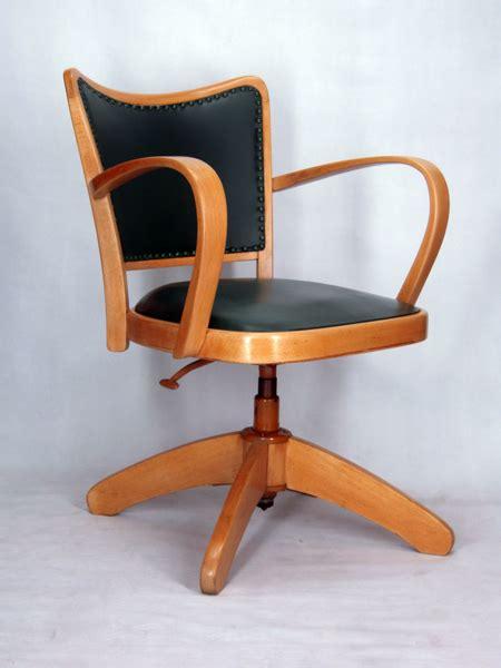 fauteuil de bureau retro chaise a accoudoirs fauteuil bureau tournant 1950 vintage