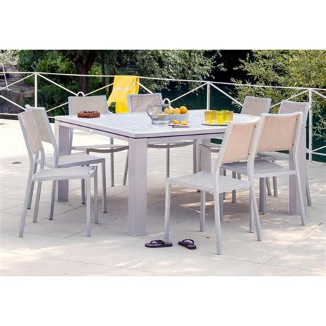 table carree de jardin table de jardin carr 233 e fiero en aluminium 160x160x74cm gr 232 ge proloisirs