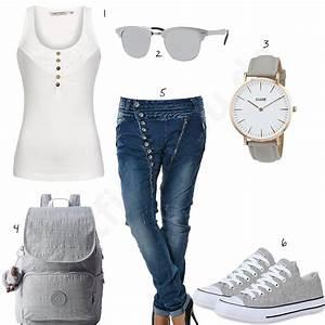 Outfits Damen 2017 : 10 l ssige boyfriend jeans in coolen damen outfits ~ Frokenaadalensverden.com Haus und Dekorationen