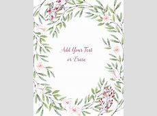 Bird Border Paper Printable Watercolor Flower Printables