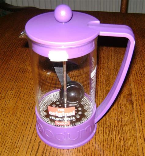 If you use a different size, just refer to the table above to determine how much ground. Bodum French Press 8 cup Cafetiere in Purple. New with instructions and measure | eBay | Bodum ...