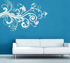 white flower vine living room wall sticker decal With white wall decals