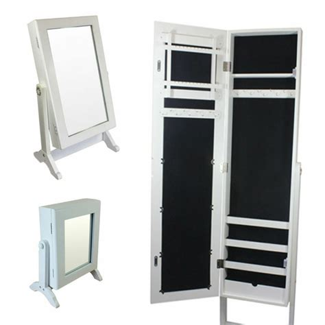 Free Standing Cupboard Storage by 3size White Mirrors Jewellery Cabinet Cupboard Organiser