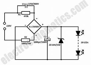 White Led Flood Lamp Circuit Schematic In 2019