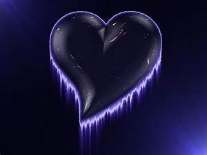 Wallpapers Backgrounds - Purple Hearts Fire Black Love ...