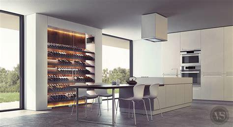 cuisine avec cave a vin en cuisine