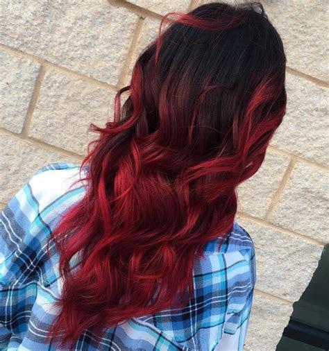 ombre braun rot 60 besten ombre haarfarbe ideen f 252 r blond braun rot und