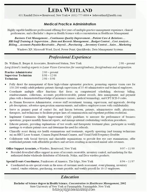 Practice Resume by Top Practice Manager Resume Objective Practice