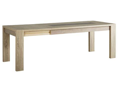 livraison repas bureau table à manger rectangulaire bois avec allonge l180
