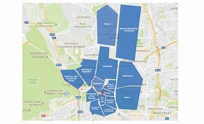 Madrid Neighborhoods Map Neighborhood Property Interactive Apartment