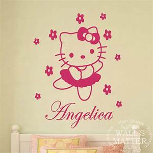 bzd free shipping diy hello kitty personalized name With kitchen colors with white cabinets with hello kitty wall stickers