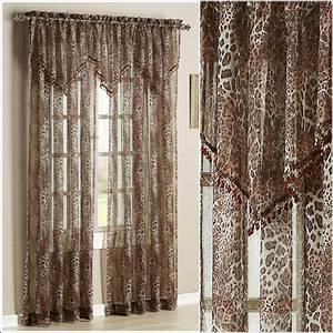 Leopard Print Sheer Curtains Download Page Home Design