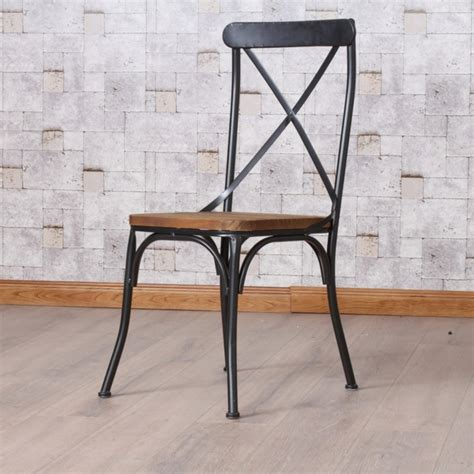 chaise industrielle metal chaise bois et metal industrial furniture bistro chair in wood and metal barak 39 7 chaise