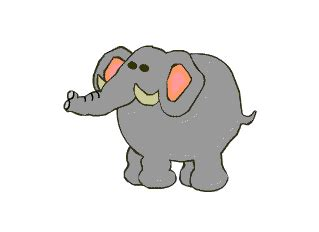 elephant animated   clip art  clip