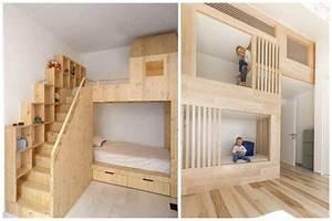 Cabane Chambre Fille : un lit cabane pour les enfants qui ont la chance d 39 avoir des parents cool ~ Teatrodelosmanantiales.com Idées de Décoration