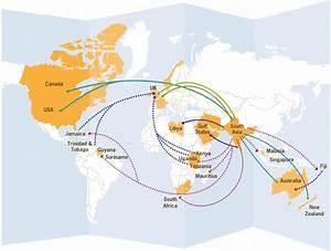 Map of major South Asian migration flows | Striking Women