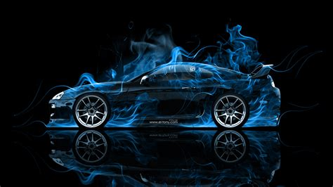 Abstract Black Blue Toyota Supra Hd Wallpaper Car Wallpapers