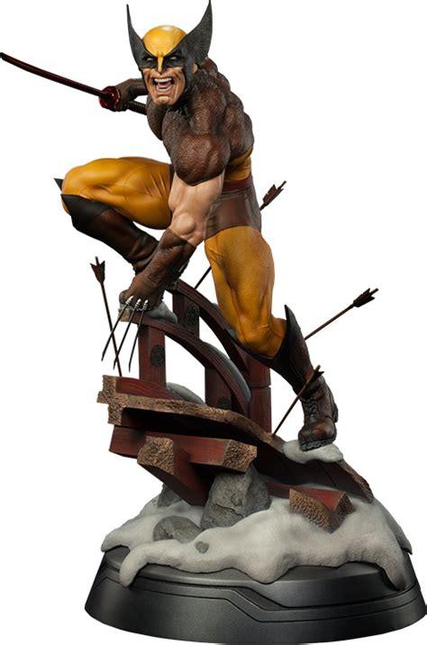 wolverine brown costume format premium figure statue geekalerts logan marvel action land comic collectibles vs figures berserk ready go traveling