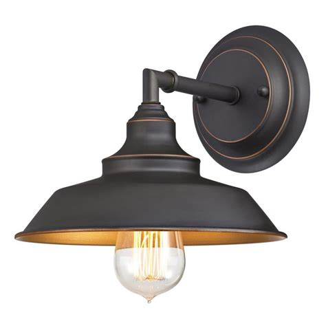bronze and wall sconces westinghouse iron hill 1 light rubbed bronze wall