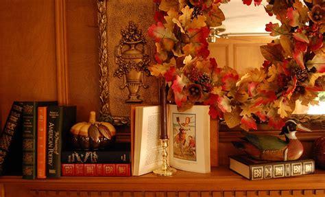 decorate  fireplace mantel  fall  autumn  books