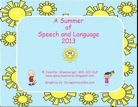 summer articulation language calendars speech language therapy