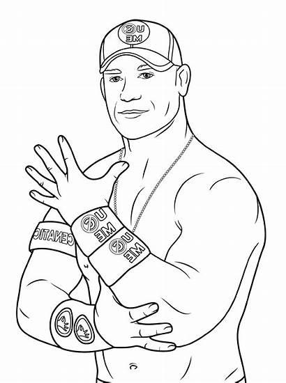 Coloring Wwe John Cena Grade Worksheets Area
