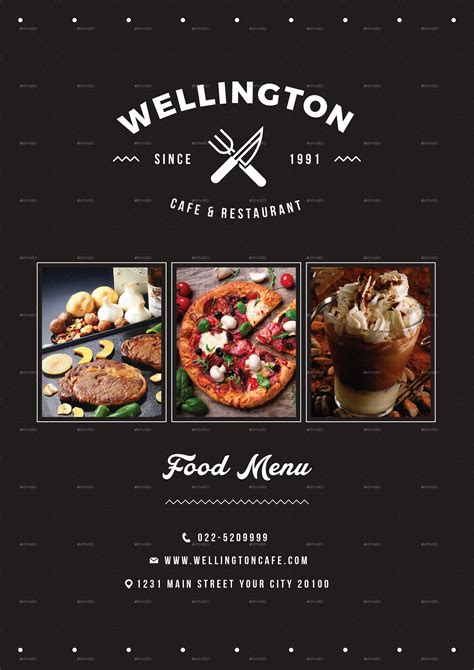 simple minimalis restaurant food menu package  vynetta