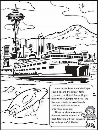 Coloring Washington State History Pages Books Printable