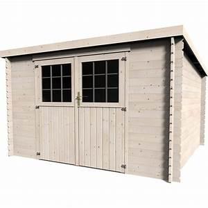 Garage En Bois Leroy Merlin : abri de jardin en bois 8 16m2 ep 28mm mod le elan ~ Melissatoandfro.com Idées de Décoration