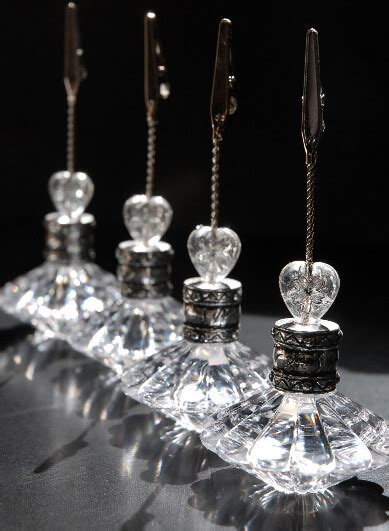 crystal place card table number holders