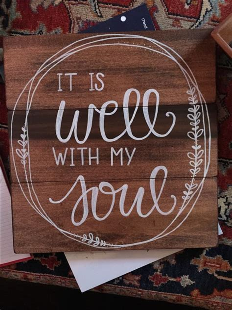 soul calligraphy quote  rustic
