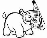 Hippo Coloring Snorkel Colorear Printable Hipopotam Cartoon Drawing Hipopotamo Dibujo Hippopotamus Kolorowanka Sheet Onlinecoloringpages Preschool Paper Drukuj sketch template