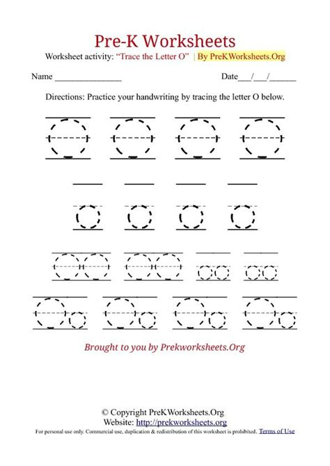 pre k tracing worksheet o pre k alphabet worksheets