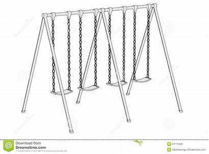 Swing Playground Cartoon Play