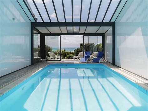 sea view villa heated indoor pool les sables dolonne