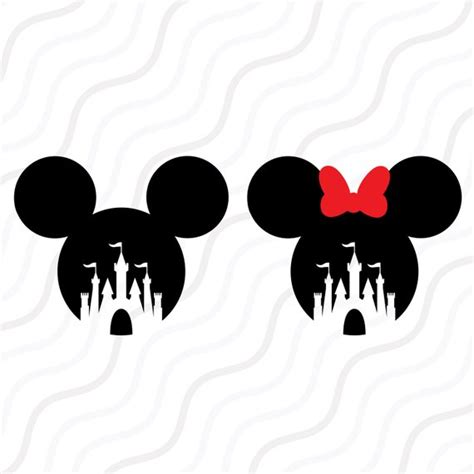 Disney Castle Svg Mickey Mouse Minnie Mouse Svg Cut Table