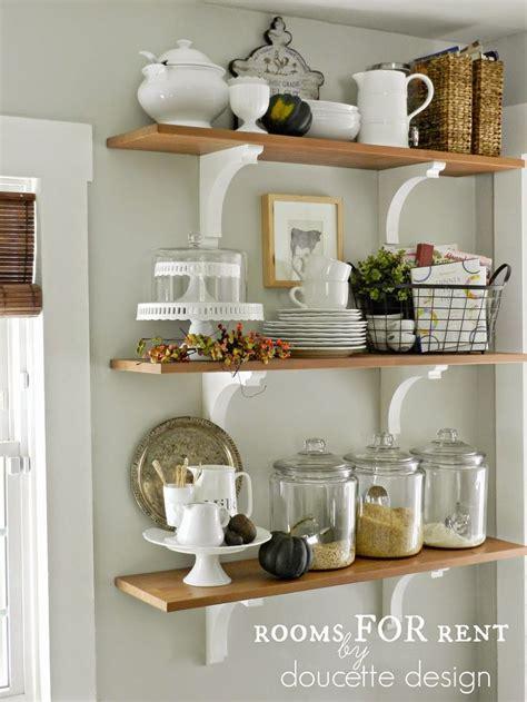 kitchen shelves ideas open shelves in the kitchen grey owl by benjamin