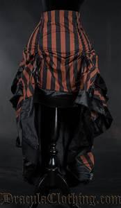 Steampunk Striped Layer Bustle Skirt  Steampunk